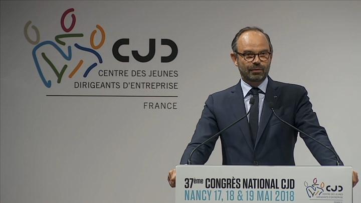 Discours d'Édouard Philippe, au Congrès du centre des jeunes dirigeants à Nancy