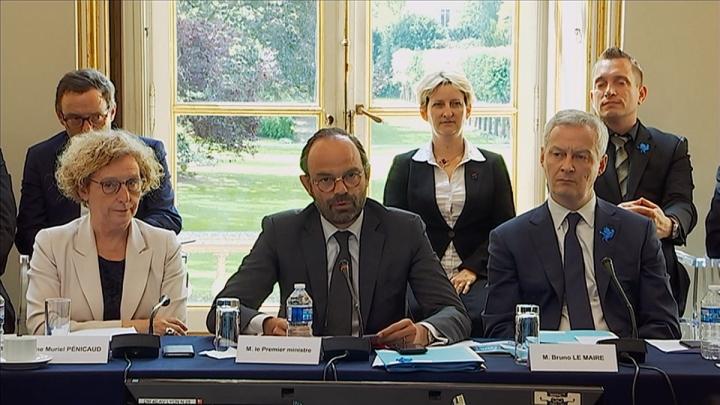 Édouard Philippe préside le Conseil national de l'industrie
