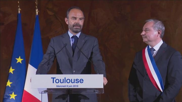 Discours du Premier ministre, Édouard Philippe, à Toulouse