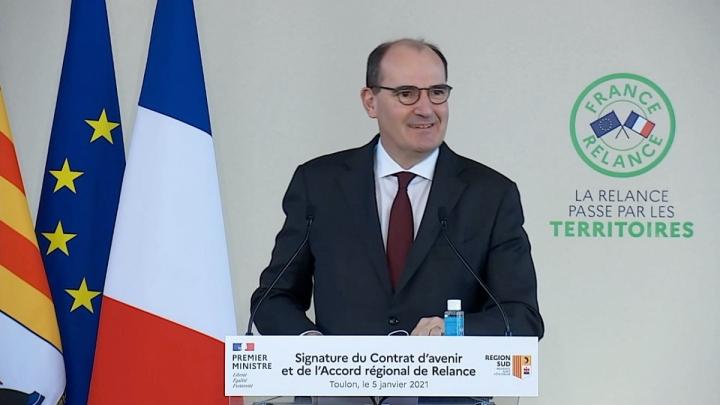 France Relance : Premier accord régional de relance signé à Toulon par le Premier ministre