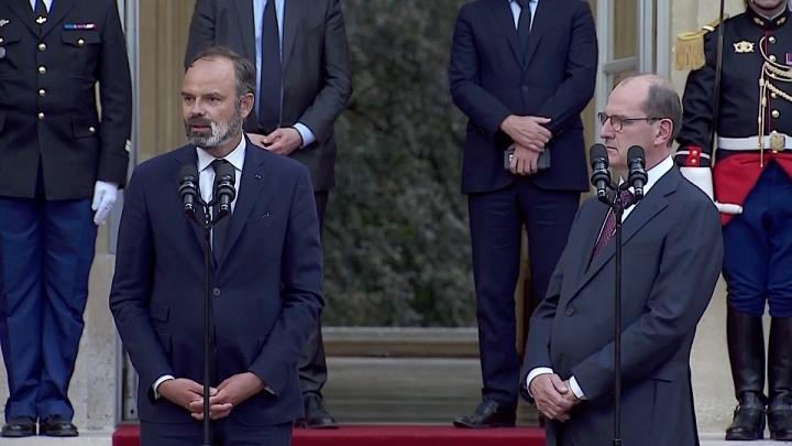 Passation des pouvoirs entre Edouard Philippe et Jean Castex