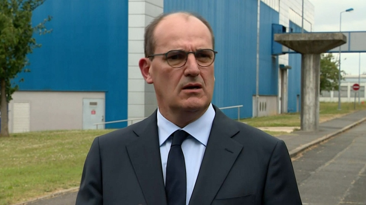 Déplacement de Jean Castex dans une entreprise de Corbeil-Essonnes