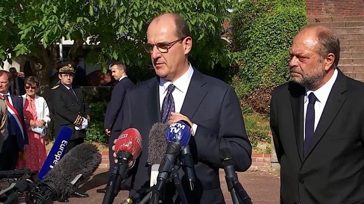 Jean Castex en visite au tribunal de Bobigny