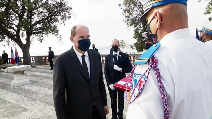 Remise de décorations aux policiers municipaux de Nice