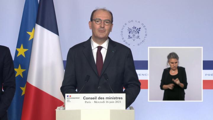 Déclaration du Premier ministre Jean Castex suite à l'amélioration de la situation sanitaire