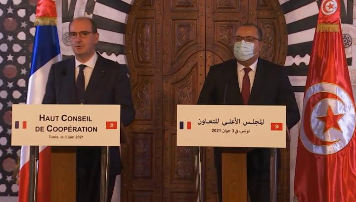 Déclaration conjointe du Premier ministre Jean Castex et d'Hichem Mechichi, chef du gouvernement tunisien