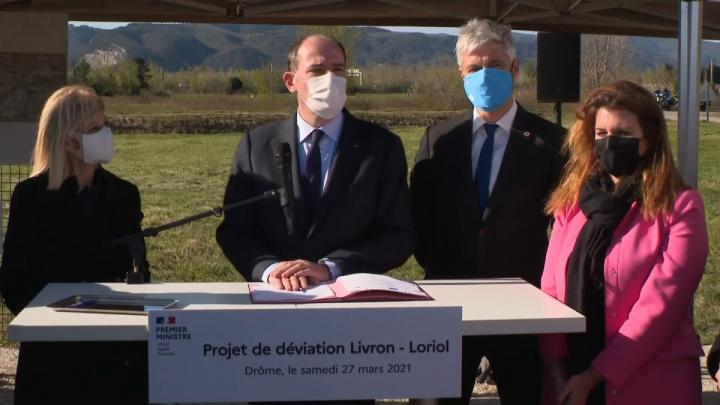 Le Premier ministre, Jean Castex, lance les travaux de contournement de Livron et Loriol-sur-Drôme