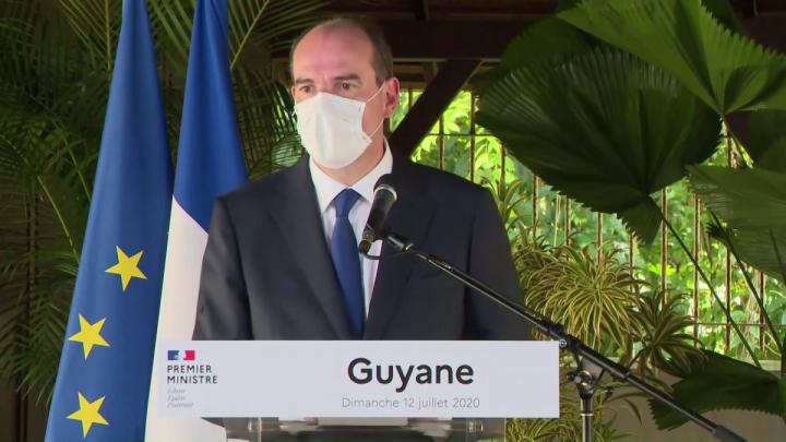 Jean Castex en Guyane : déclaration au Carbet Loubère