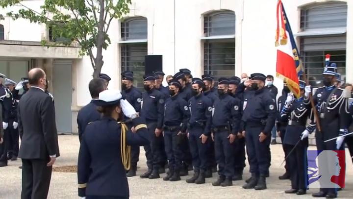 Hommage national au brigadier Éric Masson, en Avignon