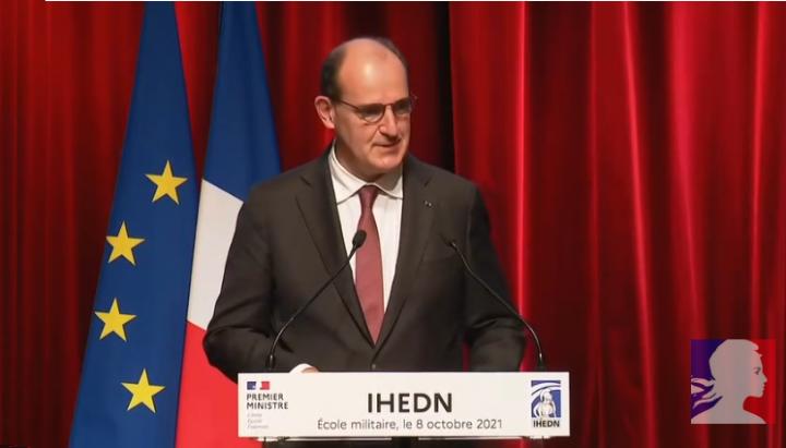 Allocution de Jean Castex à l'Institut des hautes études de Défense nationale (IHEDN)