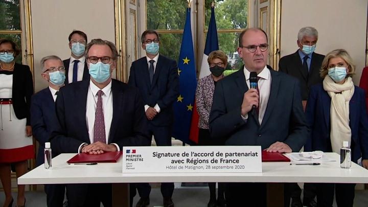 Accord de partenariat avec les régions de France