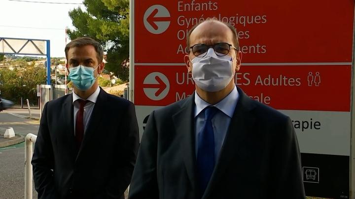 Déplacement du Premier ministre à l'hôpital Nord de Marseille