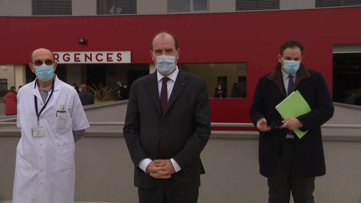Déclaration du Premier ministre, Jean Castex, au centre hospitalier de Melun