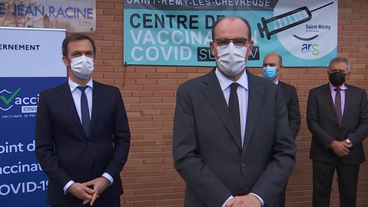 Déclaration du Premier ministre depuis le centre de vaccination de Saint-Rémy-lès-Chevreuse