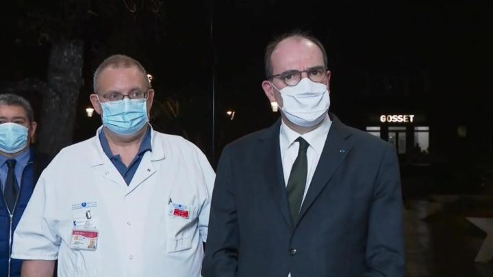 Le Premier ministre Jean Castex s'exprime depuis l'hôpital de la Pitié-Salpêtrière