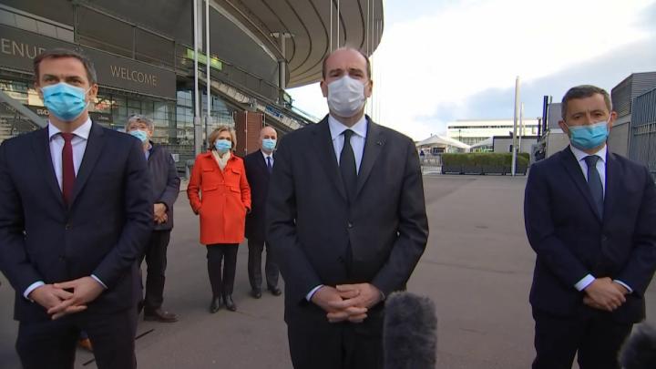 Déclaration du Premier ministre Jean Castex au centre de vaccination du Stade de France