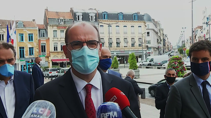 Covid-19 : déclaration de Jean Castex à Roubaix