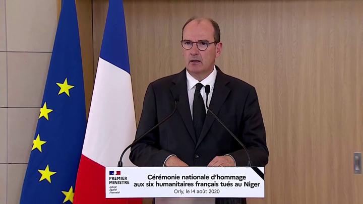 Cérémonie nationale d'hommage aux six humanitaires français tués au Niger
