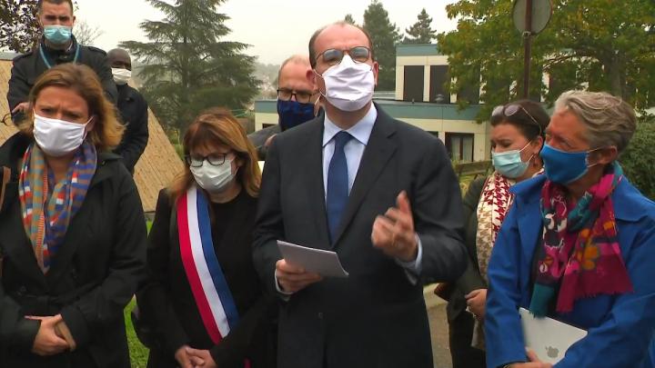 Lutte contre la pauvreté : Jean Castex en déplacement au centre d'hébergement et de réinsertion sociale, à Epinay-Sur-Orge