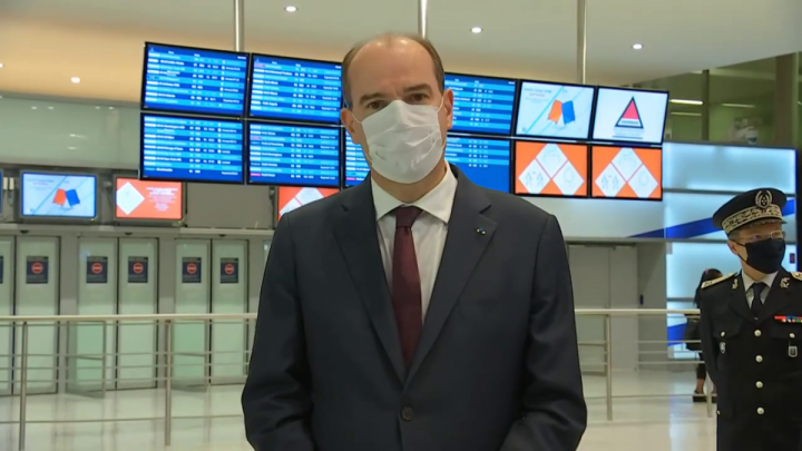 Contrôles aux frontières : déclaration de Jean Castex depuis l'aéroport Paris-Charles de Gaulle