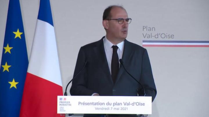 Plan Val-d'Oise : intervention du Premier ministre Jean Castex depuis Gonesse