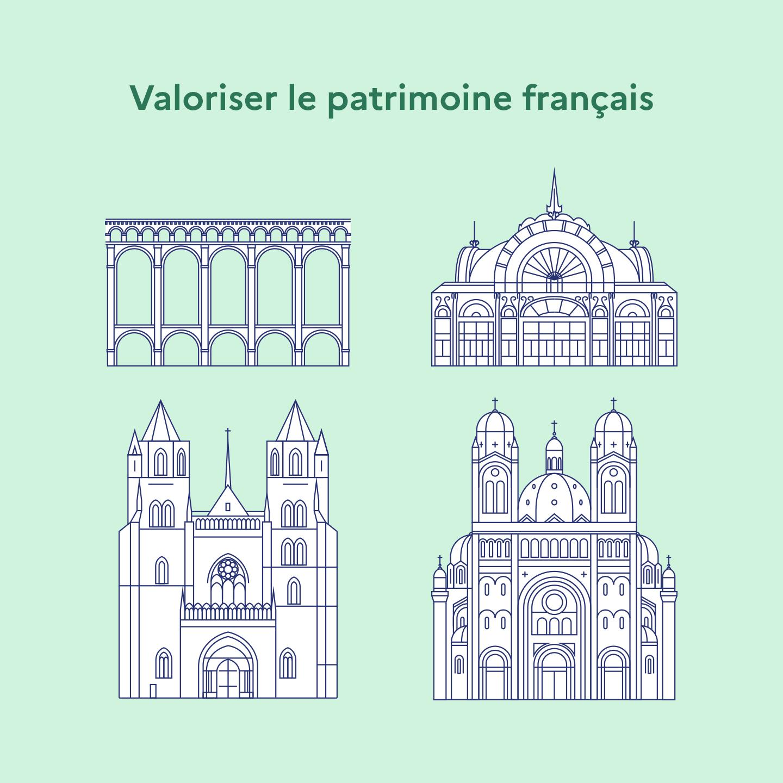 Quatre monuments français